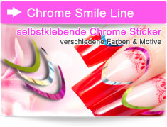 Chrome Smile Line Sticker