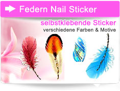 Feathers Nail Sticker