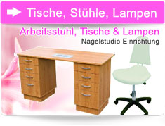 Tables, chairs, lamps