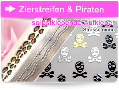 Zierstreifen & Piraten Sticker