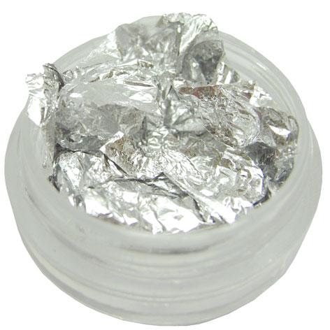 Metallic Folien In Silber Nail Art Nageldesign