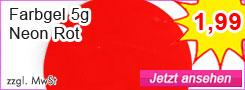 Farbgel Neon Rot günstig kaufen
