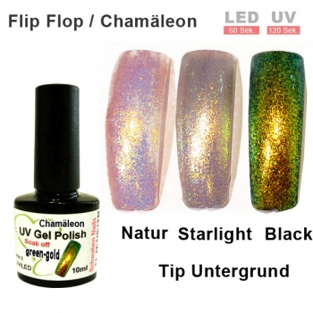 UV Gel Polish Chamäleon green gold