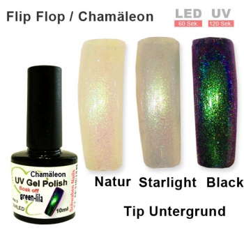 UV Gel Polish Chamäleon green lila