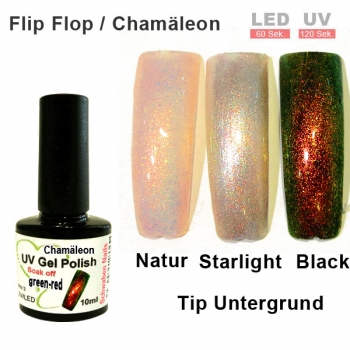 UV Gel Polish Chamäleon green red