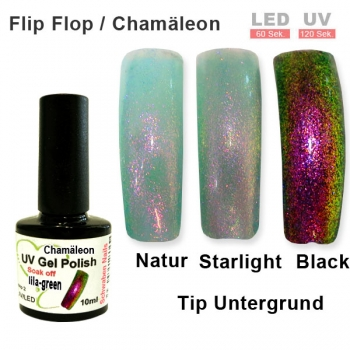 UV Gel Polish Chamäleon lila green