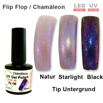 UV Gel Polish Chamäleon lila red