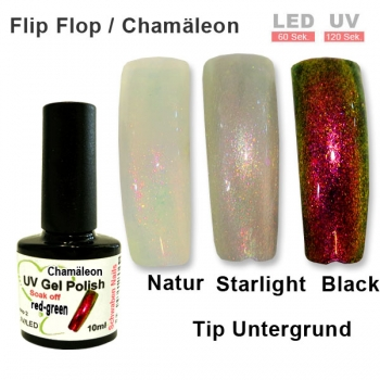 UV Gel Polish Chamäleon red green