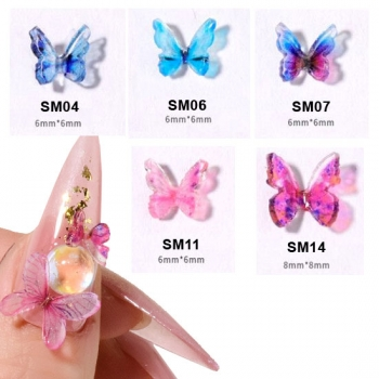 Schmetterling 3D Nailart