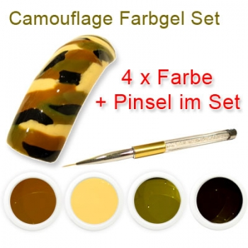 Camouflage Farbgel Set