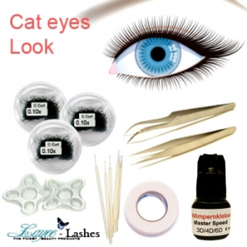 Cat Eyes Look Wimpern Set