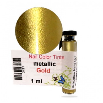 Nail Tinte metallic gold