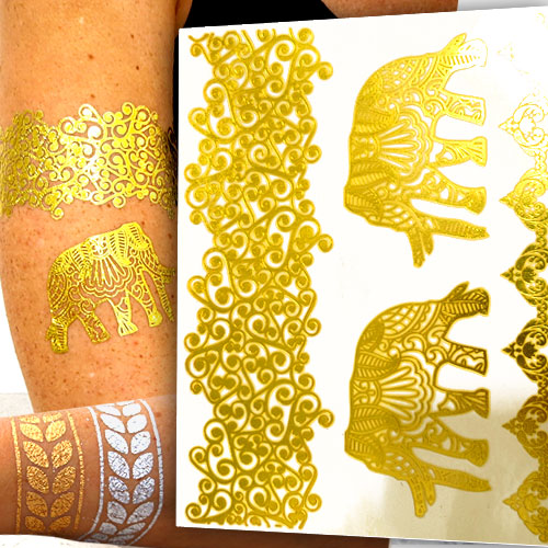 Gold Tattoos Haut 5 Flash Tattoo