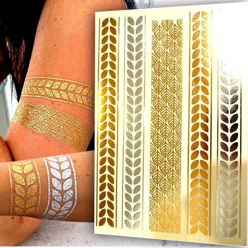 Gold Tattoos Haut 19 Flash Tattoo