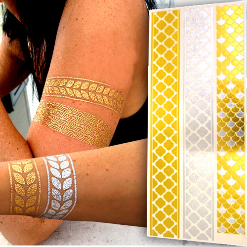 Gold Tattoos Haut L007 Flash Tattoo