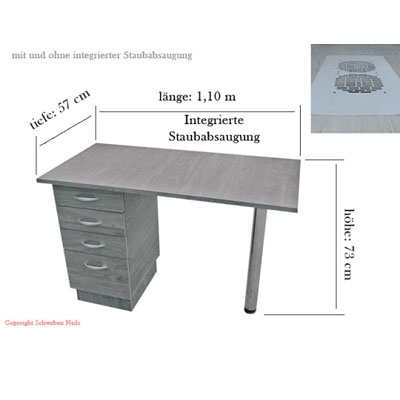Nagelstudio Tisch Nagelkosmetik Tisch Arbeitstisch Integrierter