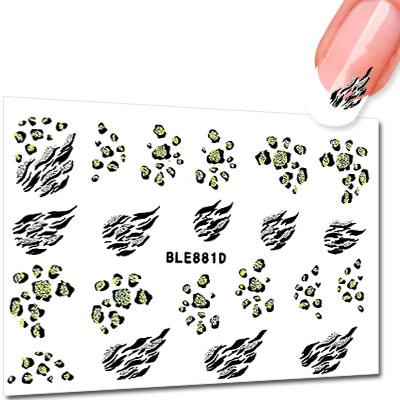 Leopard Tiger Nail Art Stickers Ble881d