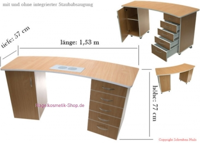 nagelstudio tisch mit integrierter staubabsaugung nagelstudio arbeitstisch. Black Bedroom Furniture Sets. Home Design Ideas